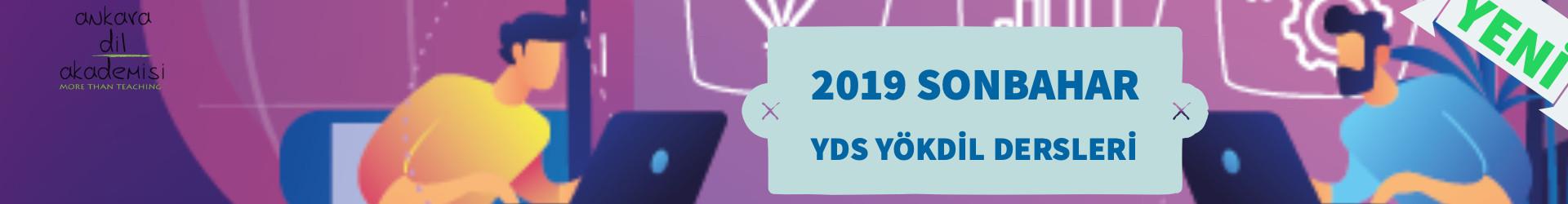 2019 Sonbahar YDS YÖKDİL Dersleri Erken İndirim Kampanyası